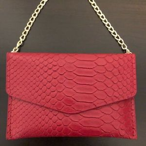 New Ava + Kris Ruby Red Snake Purse.